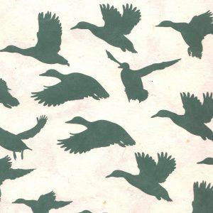 Papier népalais avec vols de canards