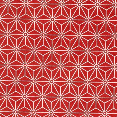 Papier népalais rouge motif tête de diamant