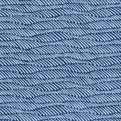 Papier japonais fond bleu motif de rubans bleus