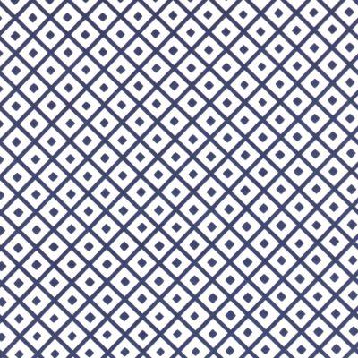 Papier japonais aux losanges bleus sur fond blancs
