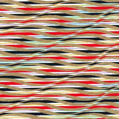 Papier japonais aux rubans multicolors