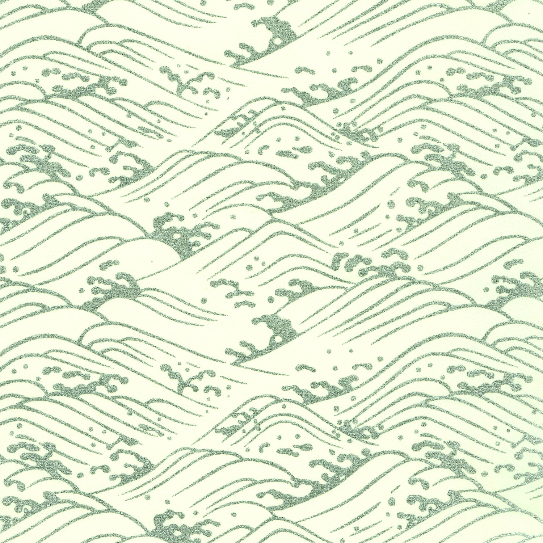 Papier japonais vagues argentées