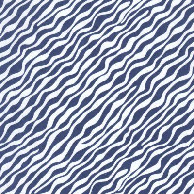 Papier japonais fond blanc motifs de vagues bleus