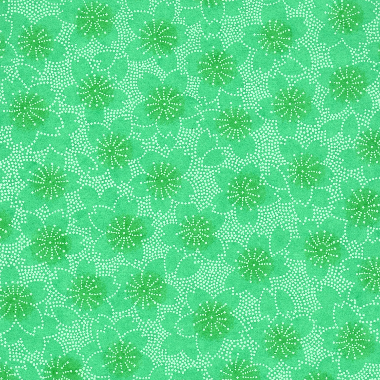 Papier japonais vert émeraude
