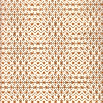 Papier japonais blanc motifs cuivres