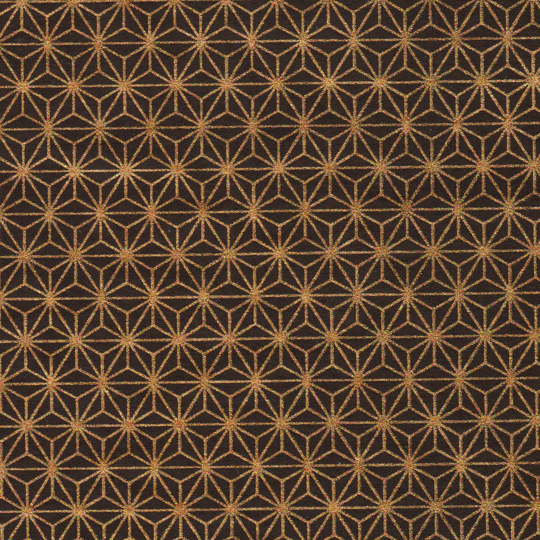 Papier japonais noir et doré