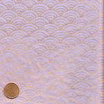 Papier japonais fond lavande grandes vagues dorees