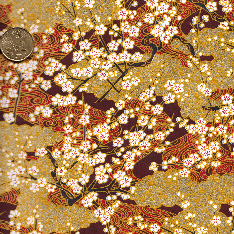 papier japonais vert et doré