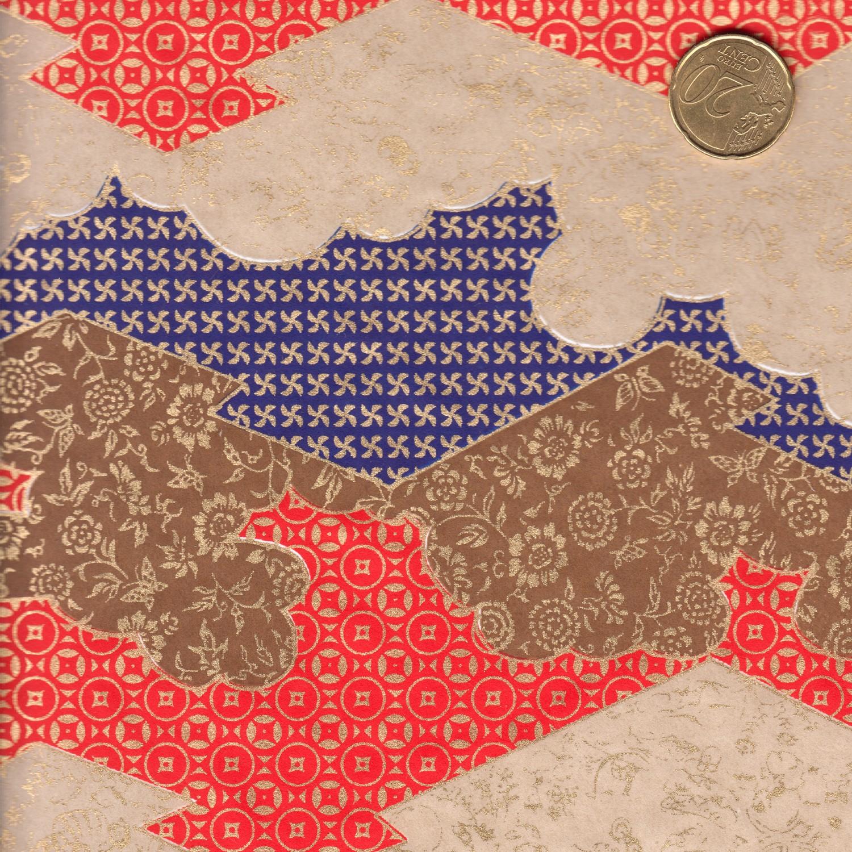 Papier jaonais au paysage géométrique