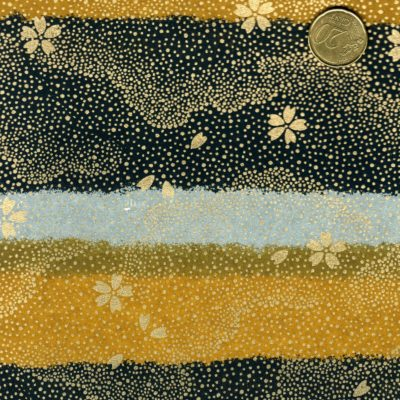 Papier japonais avec trois couleurs rehausse de dore
