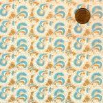 Papier japonais arabesques bleues et drées