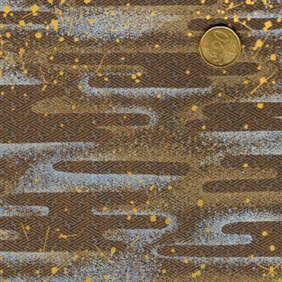 Papier japonais paysage marron